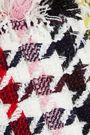 OSCAR DE LA RENTA Houndstooth wool-blend tweed coat