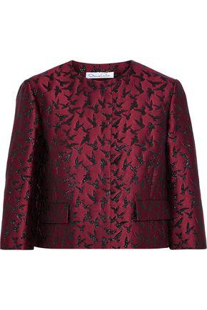OSCAR DE LA RENTA Metallic jacquard jacket