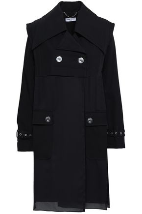 OPENING CEREMONY Double-breasted paneled twill and georgette coat