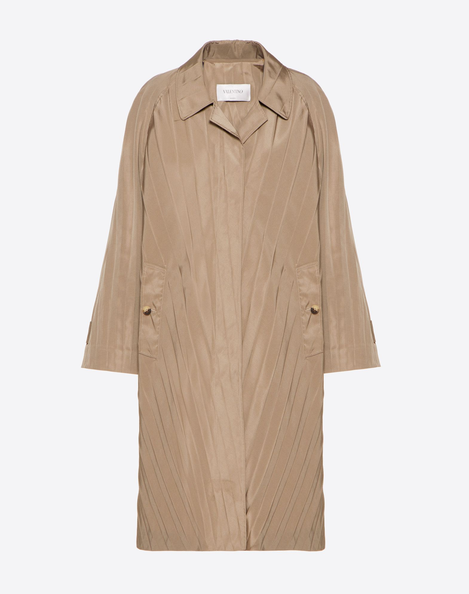 """Micro Faille """"Pressed Pleat"""" Trench Coat"""