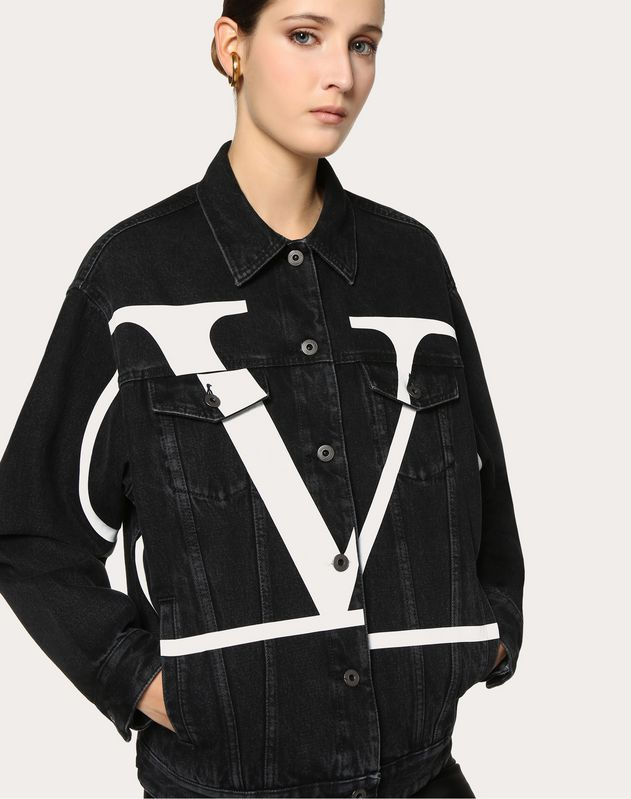 Deconstructed Go Logo Denim Jacket