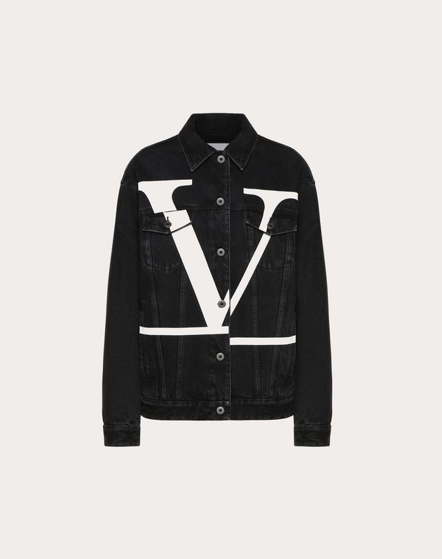 Deconstructed VLOGO Denim Jacket