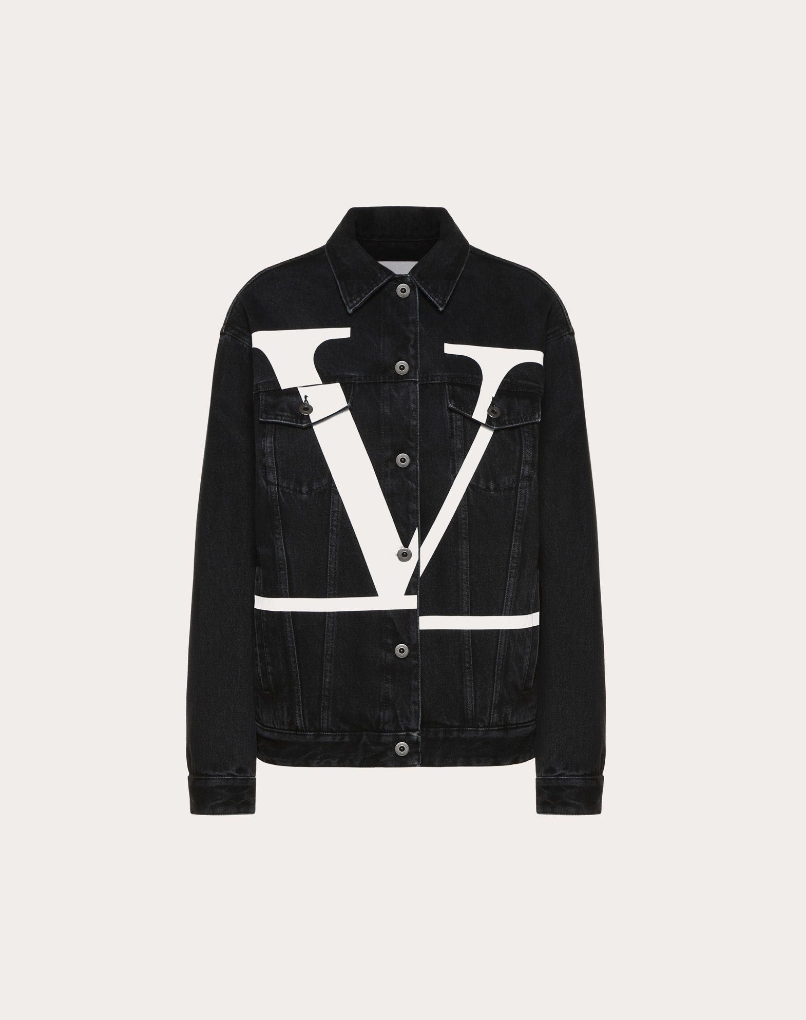 Jeansjacke mit dekonstruiertem VLOGO