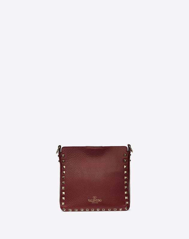 Mini Rockstud Grainy Leather Hobo Bag