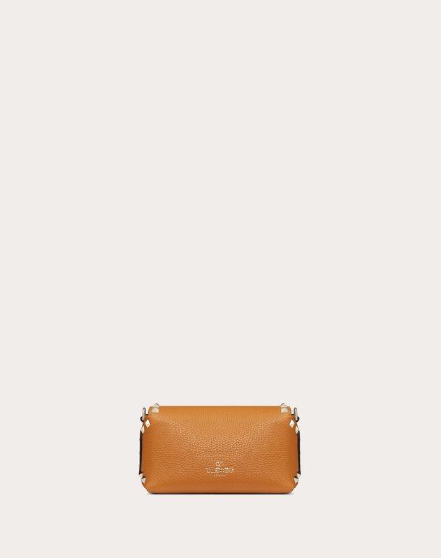 Mini sac à bandoulière Rockstud en veau imprimé Alce