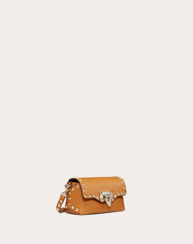 Mini Rockstud Grainy Leather Crossbody Bag