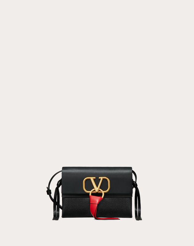 Small VRing Smooth Calfskin Crossbody Bag