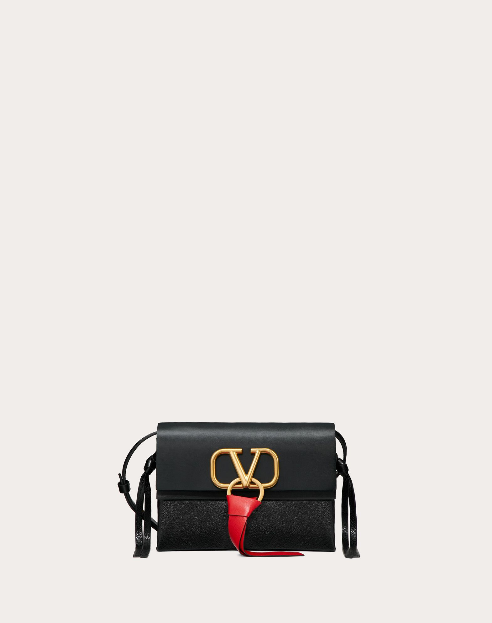 Small VRing Smooth Calfskin Crossbody Bag