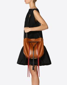 Large VLOGO Cowhide Bucket Bag