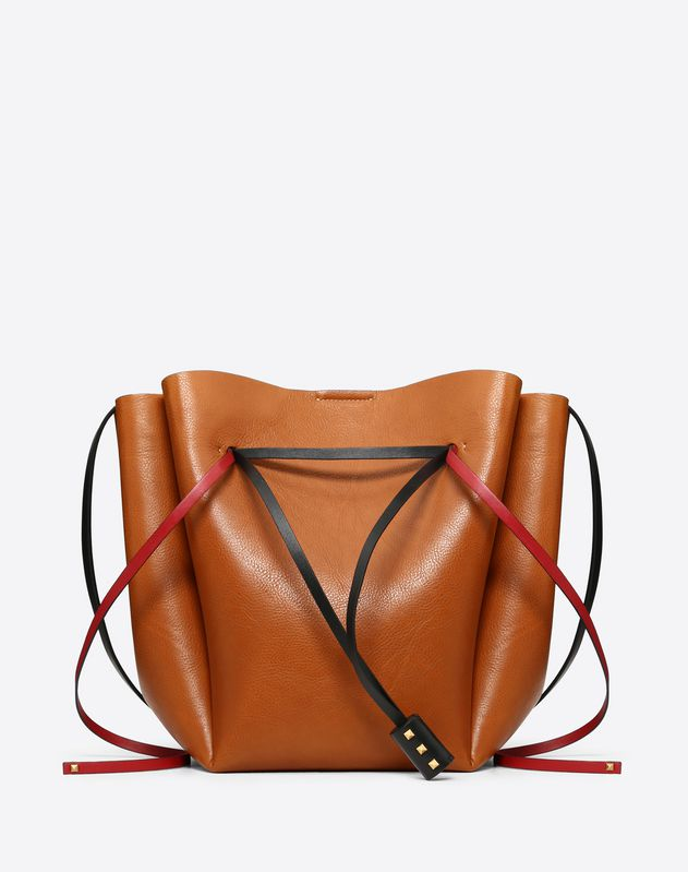 4985f87ccf Large VLOGO Cowhide Bucket Bag