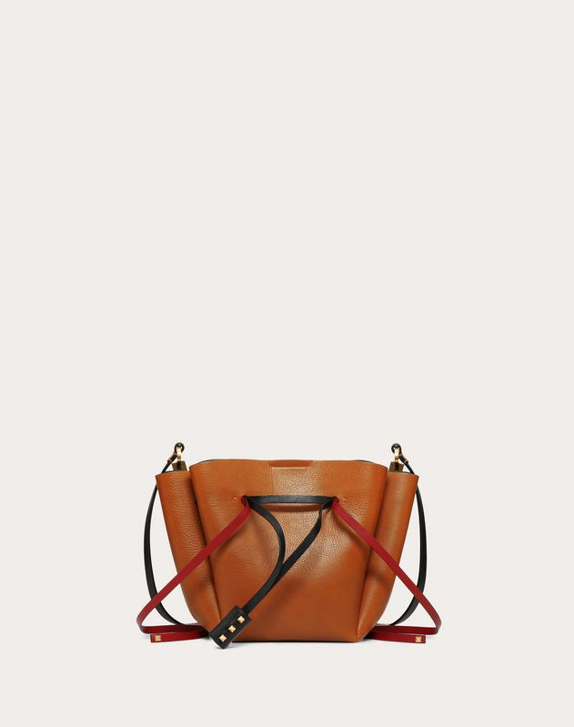Medium VLOGO Cowhide Bucket Bag