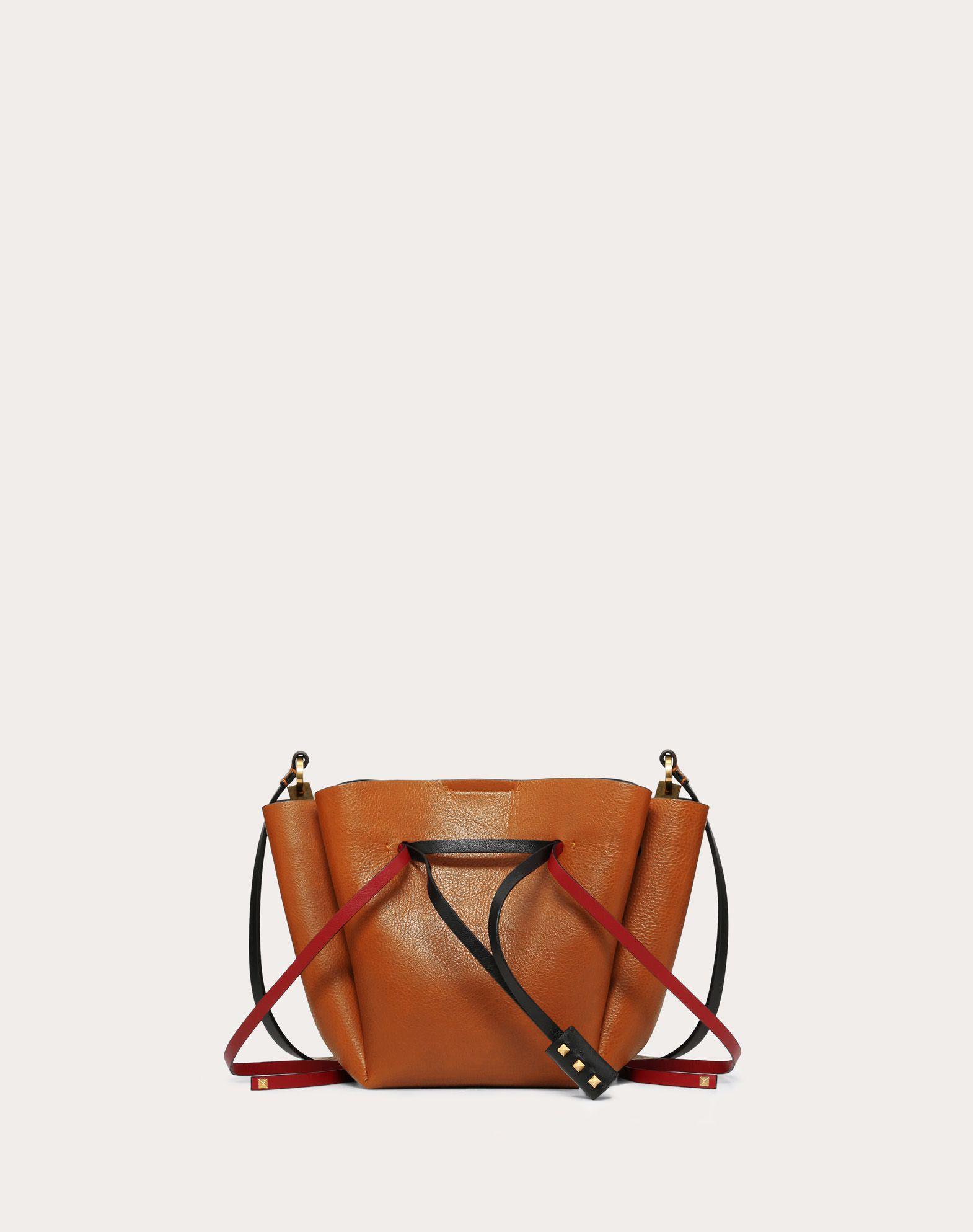 Medium VLOGO Cowhide Bucket Bag