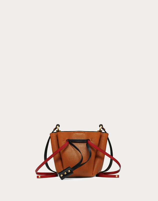 Small VLOGO Cowhide Bucket Bag