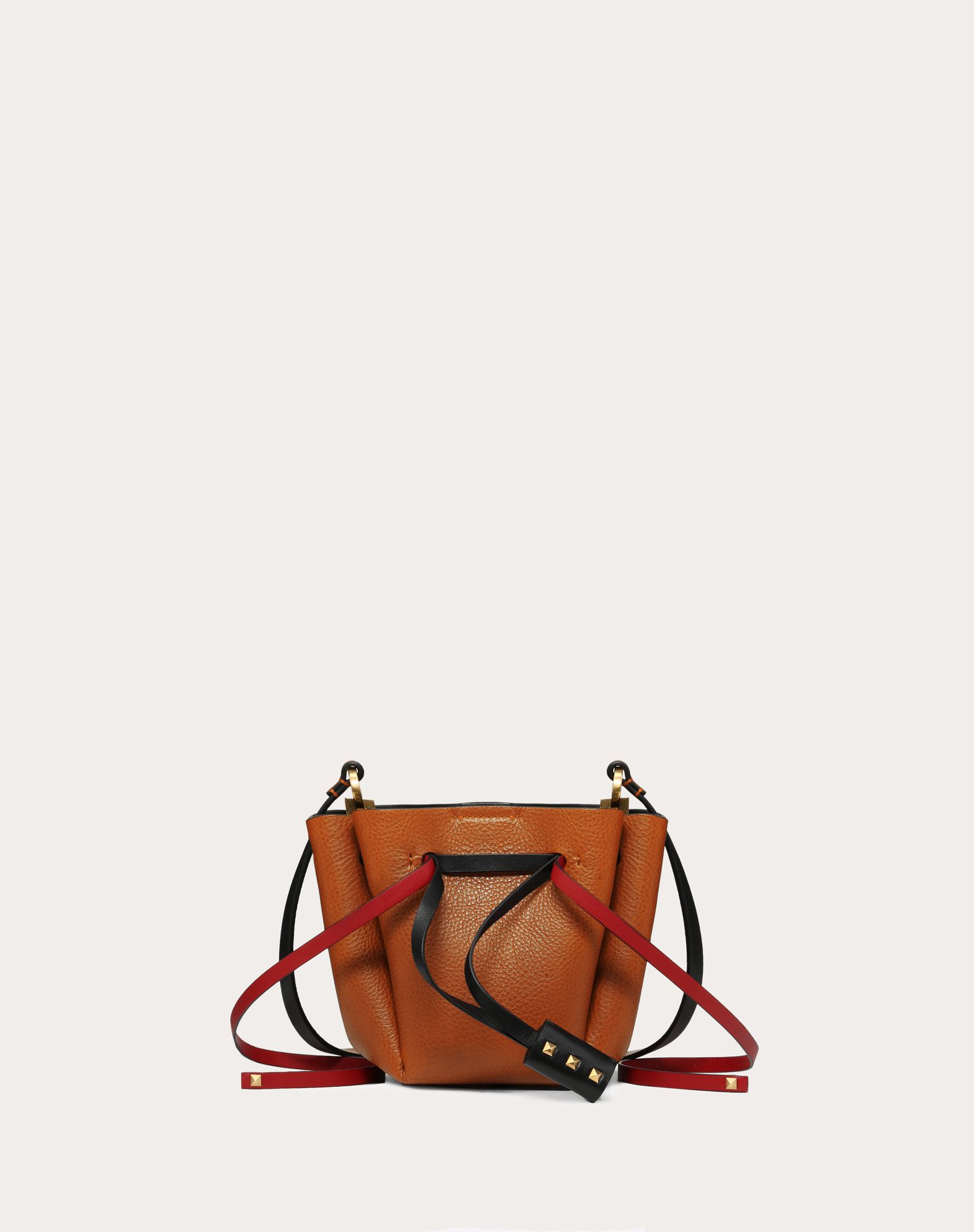 Small VLOGO Cowhide Bucket Bag