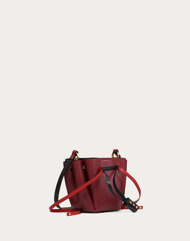 Small Go Logo Cowhide Bucket Bag