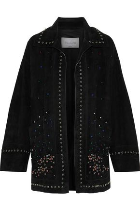 VALENTINO Studded suede jacket