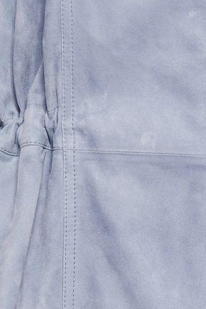 BRUNELLO CUCINELLI Bead-embellished gathered suede jacket