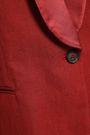 BRUNELLO CUCINELLI Satin-trimmed cotton and linen-blend blazer
