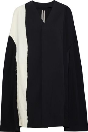 RICK OWENS LILIES Paneled two-tone wool-blend cape