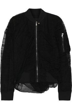 RICK OWENS Plissé-tulle bomber jacket