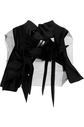 RICK OWENS Wishbone gathered shell and tulle bolero