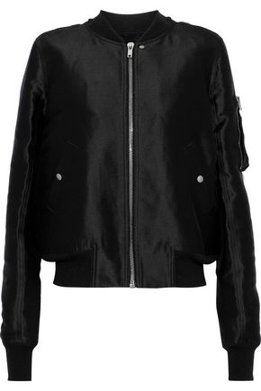 RICK OWENS Silk-satin bomber jacket