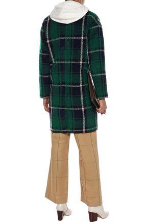 LINE Seymour checked fleece coat