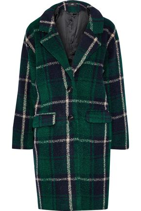 LINE Seymour checked fleece coat