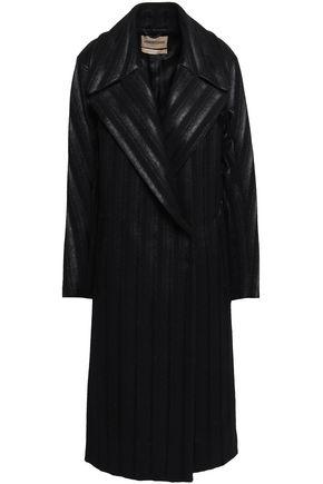 ROBERTO CAVALLI Double-breasted wool-blend felt coat