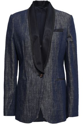 BRUNELLO CUCINELLI Bead-embellished denim blazer