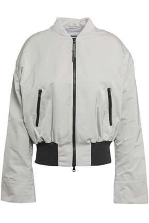 BRUNELLO CUCINELLI Bead-embellished shell bomber jacket