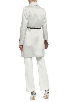 BRUNELLO CUCINELLI Linen-blend satin coat