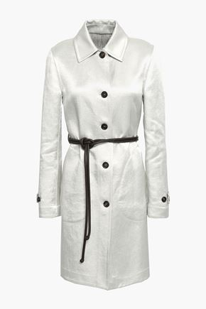 BRUNELLO CUCINELLI Linen-blend satin coat