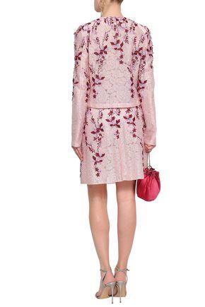 GIAMBATTISTA VALLI Floral-appliquéd lace jacket