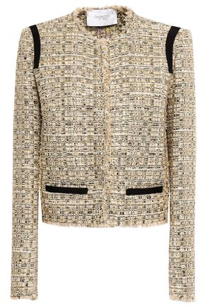 GIAMBATTISTA VALLI Frayed metallic tweed jacket
