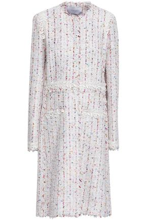 GIAMBATTISTA VALLI Lace-trimmed tweed coat