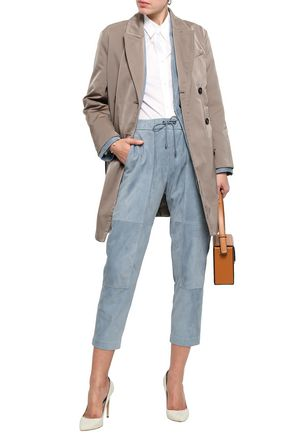 BRUNELLO CUCINELLI Double-breasted satin trench coat