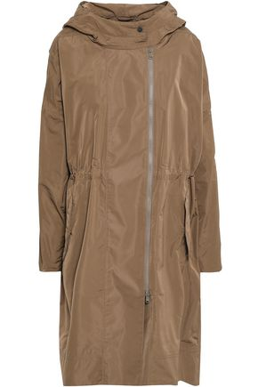 BRUNELLO CUCINELLI Bead-embellished shell hooded parka