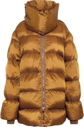 RICK OWENS Quilted shell down coat