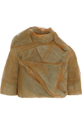 RICK OWENS Stalacmite cropped plissé-tulle jacket