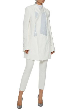 RICK OWENS Brother coated denim-paneled twill blazer