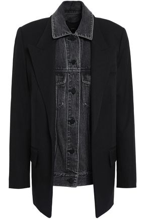 ALEXANDER WANG Layered denim and wool jacket