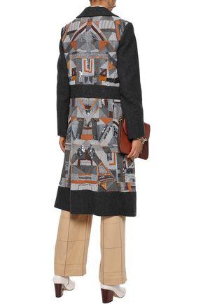 エトロ パネルデザイン 装飾付き フェルト コート