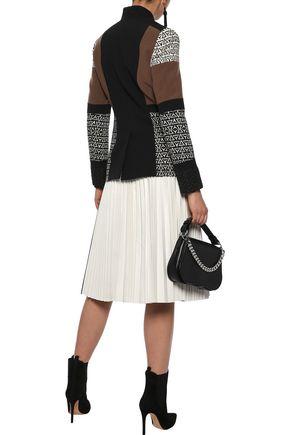 ETRO Jacquard-paneled wool-blend twill jacket