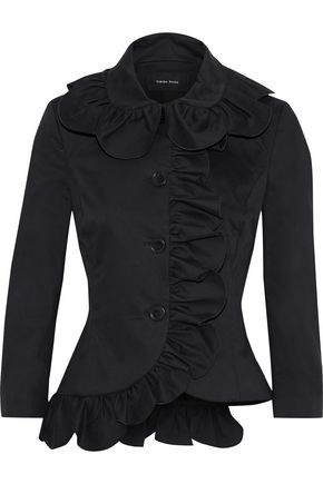 SIMONE ROCHA Ruffle-trimmed cotton-blend jacket