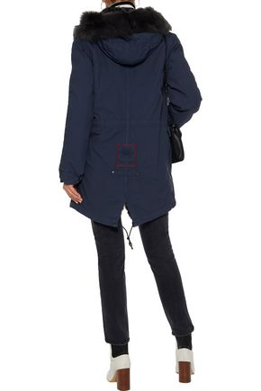 MR & MRS ITALY Shearling-lined cotton-canvas hooded coat