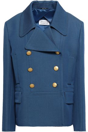 MAISON MARGIELA Double-breasted virgin wool and cotton-blend blazer