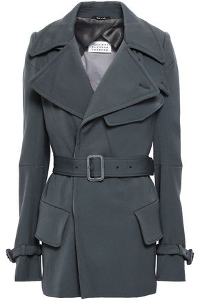 MAISON MARGIELA Double-breasted virgin wool trench coat