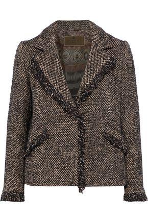 ETRO Frayed tweed jacket