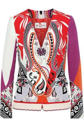 ETRO Printed wool-crepe blazer